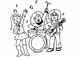 Pin music class coloring page twisty noodle on pinterest for Music coloring pages for kindergarten