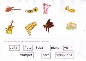 math worksheet : musical instruments kindergarten pre school : Kindergarten Music Worksheets