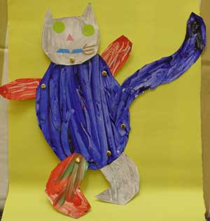 Jointed cat nursery school for Cat art and craft