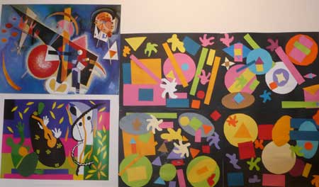 work inspired by matisse and paul klee made with geometrical shapes